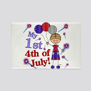 1st July 4th Boy Rectangle Magnet