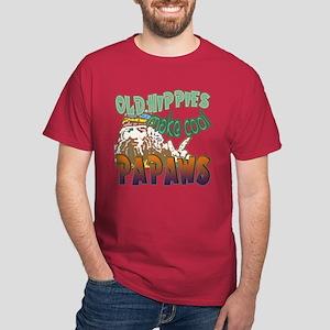 OLD HIPPIES MAKE COOL PAPAWS Dark T-Shirt