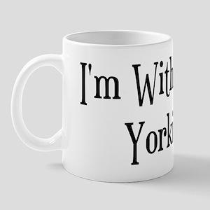 I'm With The Yorkie Mug