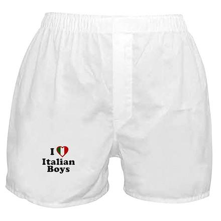 I Love Italian Boys Boxer Shorts