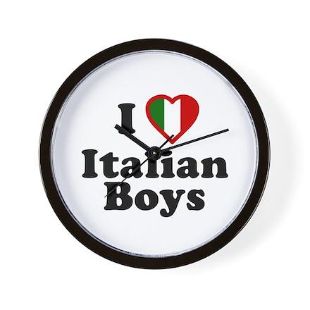 I Love Italian Boys Wall Clock