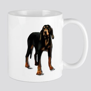 black and tan hound Large Mugs