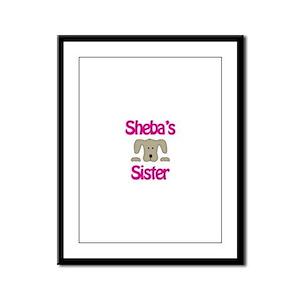 Sheba's Sister Framed Panel Print