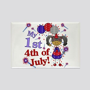 1st July 4th Girl AA Rectangle Magnet