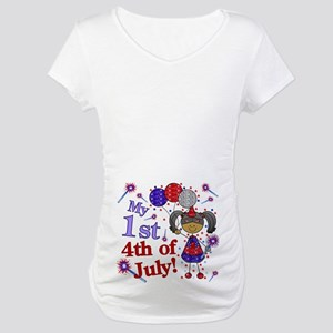 1st July 4th Girl AA Maternity T-Shirt