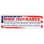 Baptist University Huckabee Bumper Sticker