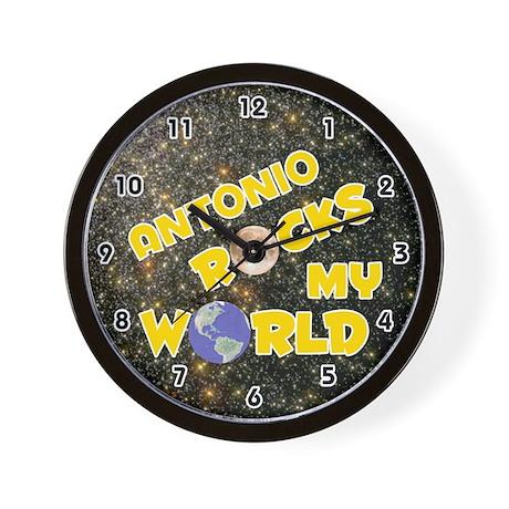 Antonio Rocks My World (Gold) Wall Clock