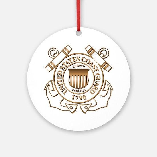 USCG Ornament (Round)