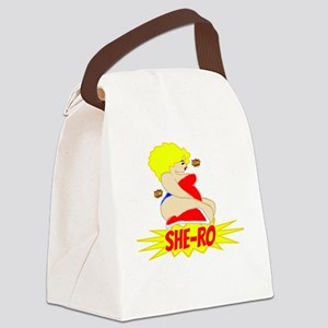 BBW Hero She-Ro Blonde Canvas Lunch Bag