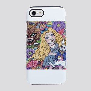 Alice Meets the Cheshire Cat iPhone 8/7 Tough Case