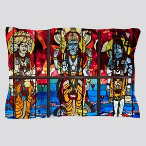 Trinity Stained Glass Window Pillow Case