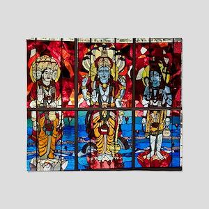Trinity Stained Glass Window Throw Blanket