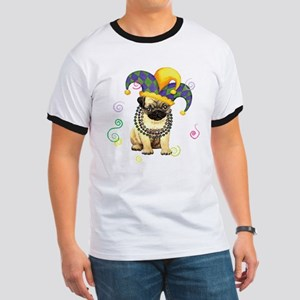 Party Pug White T-Shirt