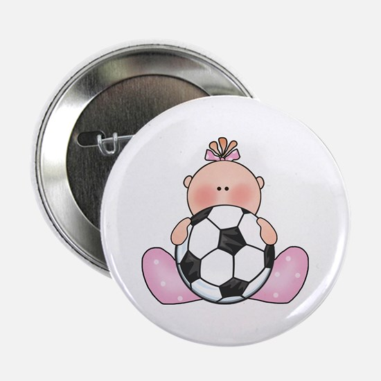 "Lil Soccer Baby Girl 2.25"" Button"