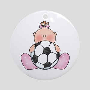Lil Soccer Baby Girl Ornament (Round)