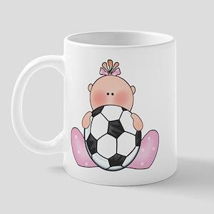 Lil Soccer Baby Girl Mug