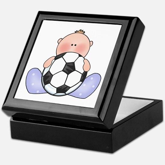 Lil Soccer Baby Boy Keepsake Box