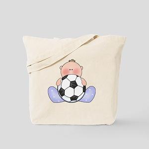 Lil Soccer Baby Boy Tote Bag
