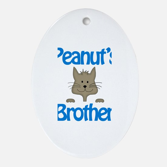Peanut's Brother Oval Ornament