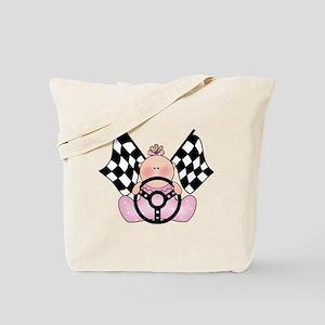 Lil Race Winner Baby Girl Tote Bag