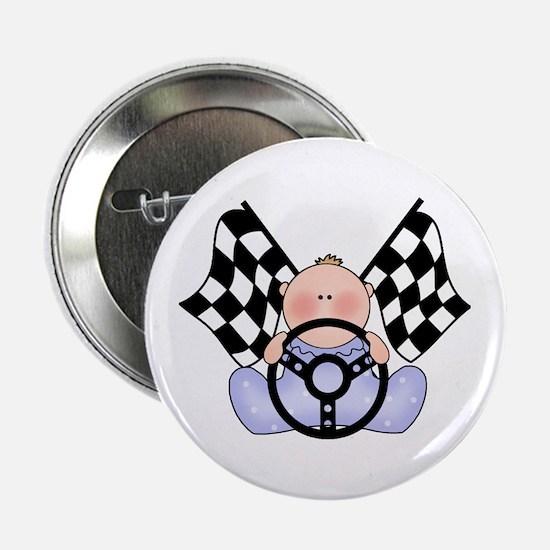"""Lil Race Winner Baby Boy 2.25"""" Button"""