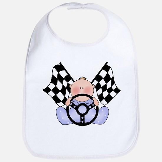Lil Race Winner Baby Boy Bib