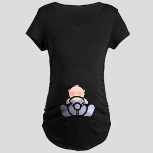 Lil Race Baby Boy Maternity Dark T-Shirt