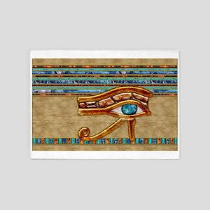 Harvest Moons Eye of Horus 5'x7'Area Rug