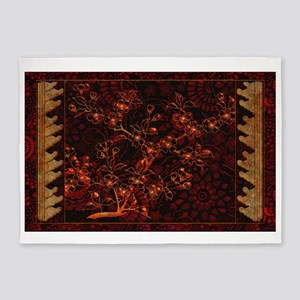 Harvest Moons Cherry Blossoms 5'x7'Area Rug