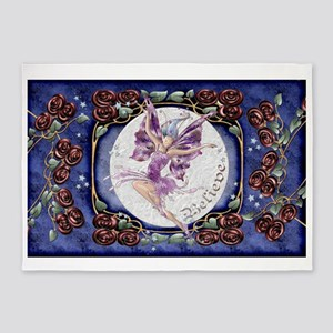 Harvest Moons Rose Fairy 5'x7'Area Rug
