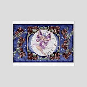 Harvest Moons Rose Fairy 5'x7'Area Rug