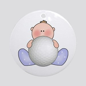 Lil Golf Baby Boy Ornament (Round)