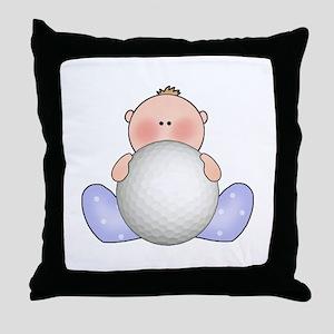 Lil Golf Baby Boy Throw Pillow