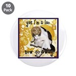 "Cat Leo 3.5"" Button (10 pack)"