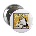 "Cat Leo 2.25"" Button (100 pack)"