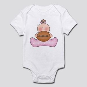 Lil Football Baby Girl Infant Bodysuit