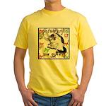 Cat Virgo Yellow T-Shirt