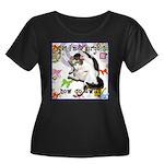 Cat Virgo Women's Plus Size Scoop Neck Dark T-Shir