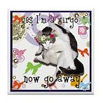 Cat Virgo Tile Coaster