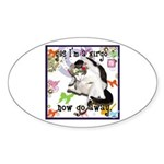 Cat Virgo Sticker (Oval)