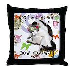 Cat Virgo Throw Pillow