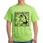 Cat Virgo Green T-Shirt