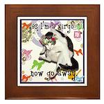 Cat Virgo Framed Tile