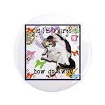 "Cat Virgo 3.5"" Button (100 pack)"