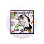 """Cat Virgo 3.5"""" Button"""