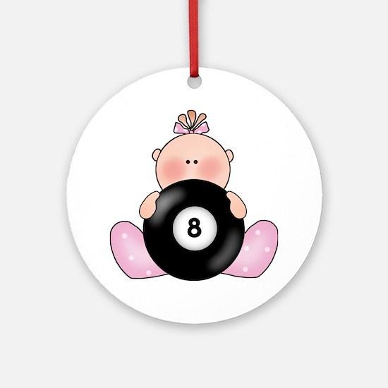 Lil Billiards Baby Girl Ornament (Round)
