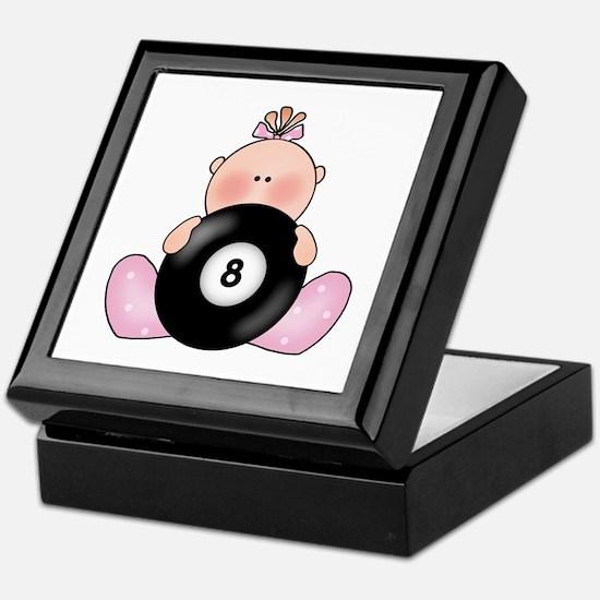 Lil Billiards Baby Girl Keepsake Box