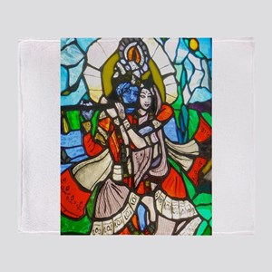 Radha and Krishna Throw Blanket