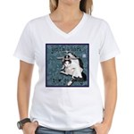Cat Libra Women's V-Neck T-Shirt