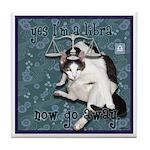 Cat Libra Tile Coaster